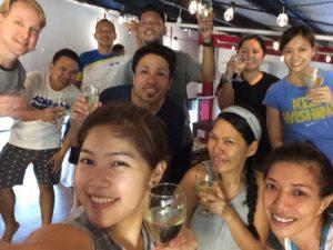 Celebrating after workshop completion